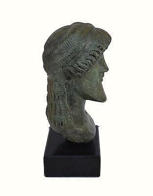 Zeus bust head God King of  all Ancient Greek Gods sculpture artifact 4