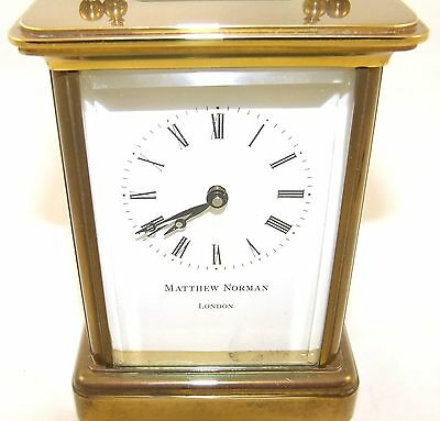 Wonderful Swiss Brass Carriage Clock : MATTHEW NORMAN LONDON SWISS MADE 4 • EUR 410,33