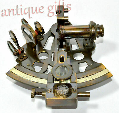 "Antique Maritime Sextant Solid Brass Astrolabe Marine Nautical Sextant 5"" Gift 2"