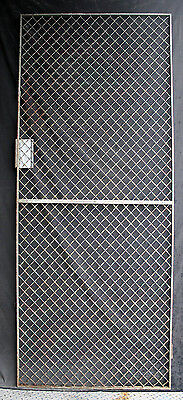 "32""x79"" Vintage Old Steel Metal Fence Gate Door Panel Grille Industrial Factory 2"