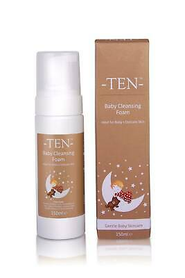 TEN Baby Gentle Cleansing Foam 150ml; Ideal For Baby's Delicate Skin X2 Units 2