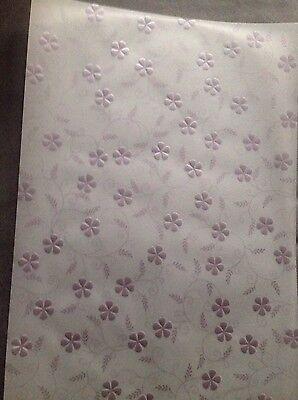 Transparentpapier von Rössler mit Geprägten Blumen in Lila / 3xA4 Geburtstag