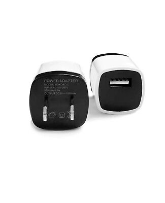 1x Wall Charger Adapter + 1x USB Data Sync Charger Charging For Phones Tablets 5