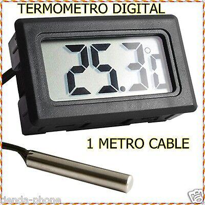 Termometro digital con sonda externa de temperatura lcd para acuario congelador