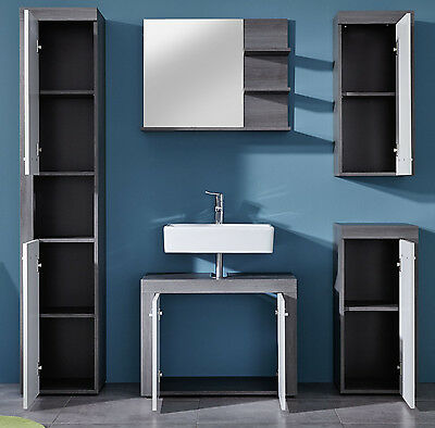 badspiegel badezimmer bad spiegel sardegna grau mit regal ablage m bel miami 70 eur 54 99. Black Bedroom Furniture Sets. Home Design Ideas