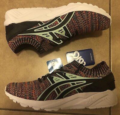 Asics Gel Kayano Trainer Knit Shoes Multi Color Mint Black HN7Q4 Men's Size 9 | eBay