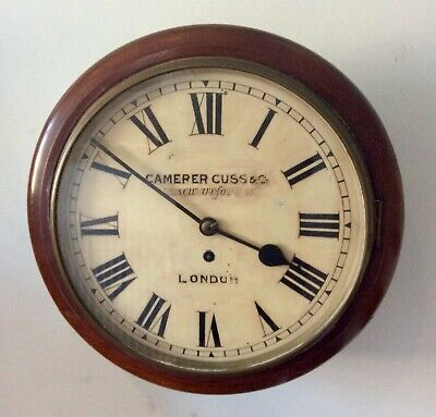 Camerer Cuss & Co Mahogany Chain Fusee Dial Clock Recently Serviced 10
