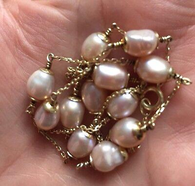Perlenkette- mit echt Gold 4