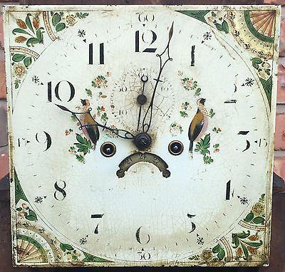 Beautiful Antique Oak And Mahogany Long Case GrandFather Clock 6