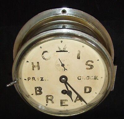 Ship Style Chrome HOVIS BREAD PRIZE CLOCK Advertising Clock BRAVINGTONS LONDON 2
