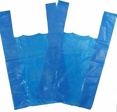 Strong Blue Large Vest Carriers Plastic Bags Shops,Takeaways,Market Stalls 100s 2