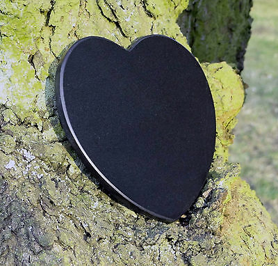 Grabschmuck Trauerspruch Gedenkstein Marmor Du bist nicht mehr da - Herz 12,5cm 3