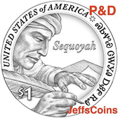 2017 P D SACAGAWEA NATIVE AMERICAN Sequoyah Mint Cherokee Indian Dollar Set s PD 2