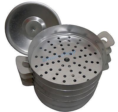Mantovarka Aluminum Mantyshnitsa 3 levels Kazakh Uzbek Russian Dumpling Steamer