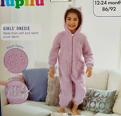 Girls All in one Hooded Onesy Sleepsuit Unisex Footless Fleece Kid Pyjamas Cute 2