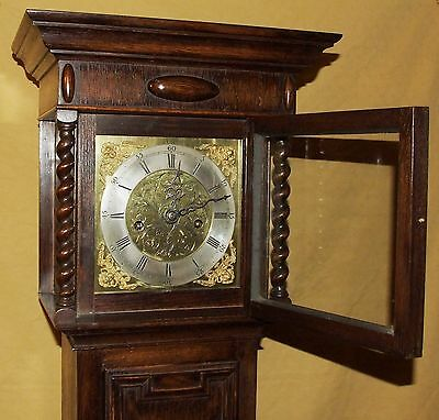 Antique 8 Day Miniature Grandfather / Grandmother Clock : Weight Driven Movement 3