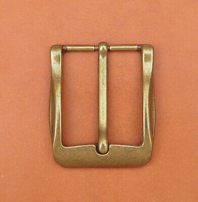 40mm Cool Solid Antique Brass Casual Men Single Pin Prong Leather Belt Buckle 6