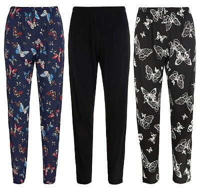 BNWT Ladies Trousers Stretch Fit Print Pattern Sizes 8-18 Elasticated Waist 2