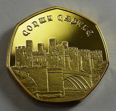 Pair of CONWY CASTLE Commemoratives. 24ct Gold. Silver. Albums/Filler NEW 2019 7