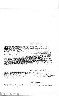 """DEFA Original Text- und Montage """"AMOK"""" ein Film von HEYNOWSKI-SCHEUMANN, 1985"""