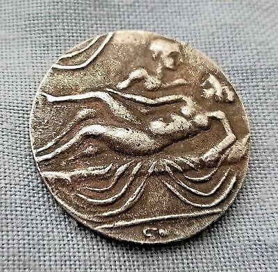 Roman Brothel Silver Coin Greek Unknown Old Erotic Strange Unusual Nude Lady Sex 2