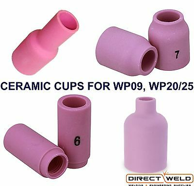 Ceramic Cups (Standard, Long & Gas Lens) for TIG Welding Torch WP09, WP20, WP25 5