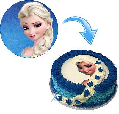 Frozen Elsa Eiskönigin Eßbar Tortenbild Tortenaufleger Party Deko Geburtstag neu 3