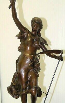 GARNITURE de CHEMINEE PENDULE ART NOUVEAU Sujet Régule patine Bronze AGRICULTURE 12