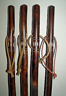 Wooden Walking Stick /Cane Unusual Flamed Carved Chestnut Wood Walking Sticks 4