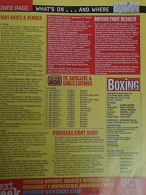BOXING NEWS - 2nd oct 1998 - herbie, paul, lewis holyfield, naz free p&p to uk 2