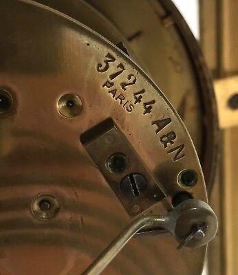 Antique Four Glass Brass Striking Bracket Mantel Clock Brass Japy Freres 11