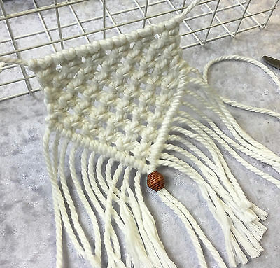 Macrame BUNTING Kit -- Flags/Baby Room/Cord/Rope/Boho -- OFF WHITE with RAW WOOD