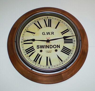 Great Western Railway GWR Victorian Style Wooden Clock, Swindon Station 4