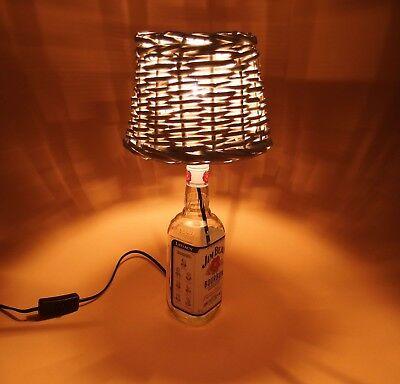 JimBeam - Flaschen Lampe Tischlampe LED 220V mit Schalter SEHR ORIGINELL S1-Korb 5