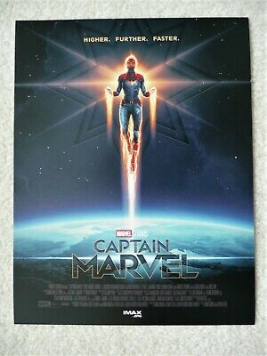 "CAPTAIN MARVEL AMC IMAX Limited 8.5"" X 11"" Mini Poster - New - Ships Flat 2"
