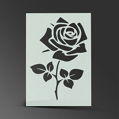 Flower Stencil Rose Mylar Sheet Painting Wall Art Craft Airbrush 190 Micron