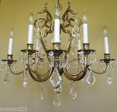 Vintage Lighting glamorous 1970s crystal chandelier by Lightolier 4