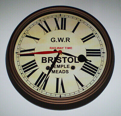 GWR Railway Time, Victorian Style Dual Time Clock, Bristol Temple Meads. 2