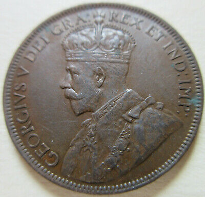 1918 Canada Large Cent Coin. 1 Penny NICE GRADE (C443) 3