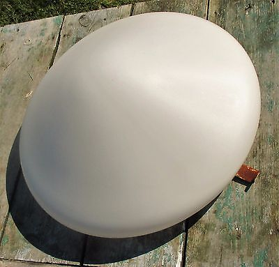 Vintage Large UFO Flying Saucer Shade Fixture Lamp White Glass Stunning 2