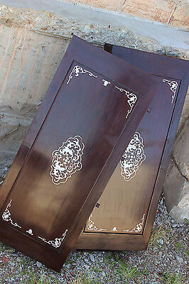 Vintage Chinese Rosewood and Mother-of-Pearl Dining Table 8