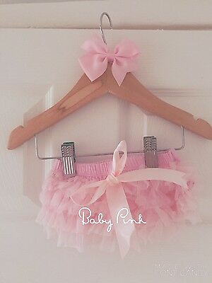 Deluxe Girls Baby Frilly Tutu Knickers Cake Smash Photoshoot 1st Birthday Outfit 9