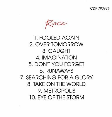 "Exclusive Strictly Limited Release ""Race"" On Cd 3"