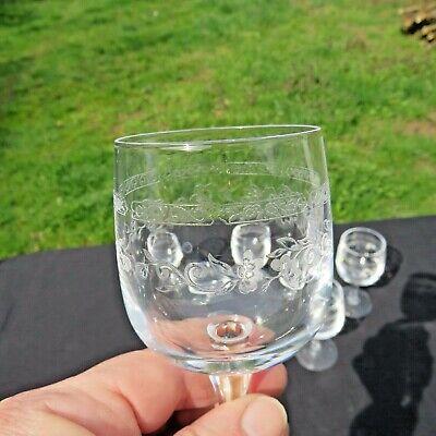 6 verres a vin rouge  en cristal d arques modèle Matignon 18 cl 5
