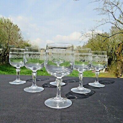 6 verres a vin rouge  en cristal d arques modèle Matignon 18 cl 2