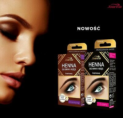 Joanna Henna Tint Black Brown Cream Eyebrow Eyelash Full Dye Lash Kit SET 15ml 3