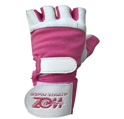 Leather Gym Gloves Weight Lifting Gloves Body Building Training Exercise Workout 7