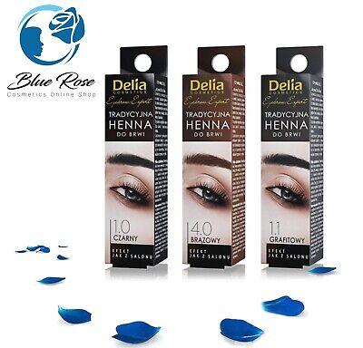Delia Cosmetics Eyebrow Tint Powder Black Brown Eyelash Dye Kit with Activator 9