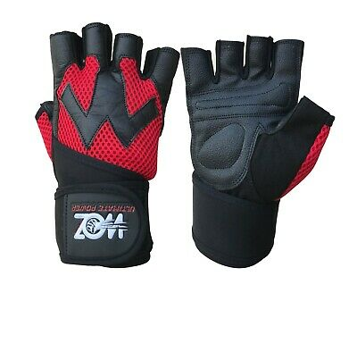 Leather Gym Gloves Weight Lifting Gloves Body Building Training Exercise Workout 9