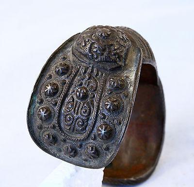 Antique 17/18`C Byzantine Orthodox Medieval Bronze Fertility Folk Art Bracelet 2 8